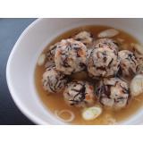 ひじき肉団子スープ